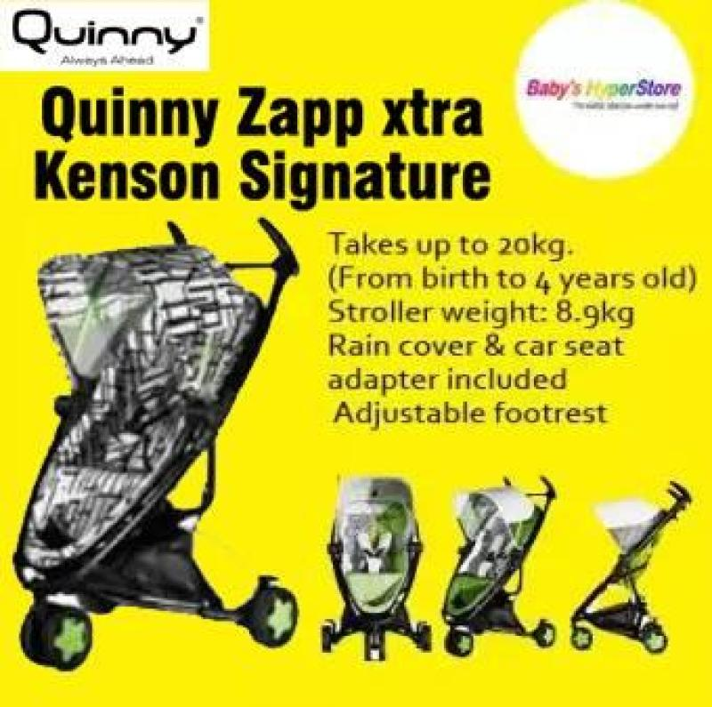 Quinny Zapp Xtra Kenson–Limited Edition★ Birth to 4yearsold★8.9kg★Rain covercarseat adapter included Singapore