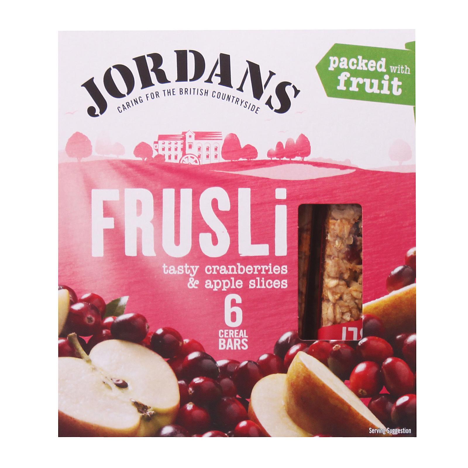 Jordans Frusli Tasty Cranberries and Apple Slices Cereal Bars