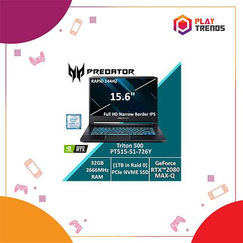 Acer Predator Triton 500 PT515-51-726Y with 9th Gen Intel i7 Processor and RTX 2080 (Max-Q) Graphics card by PlayTrends