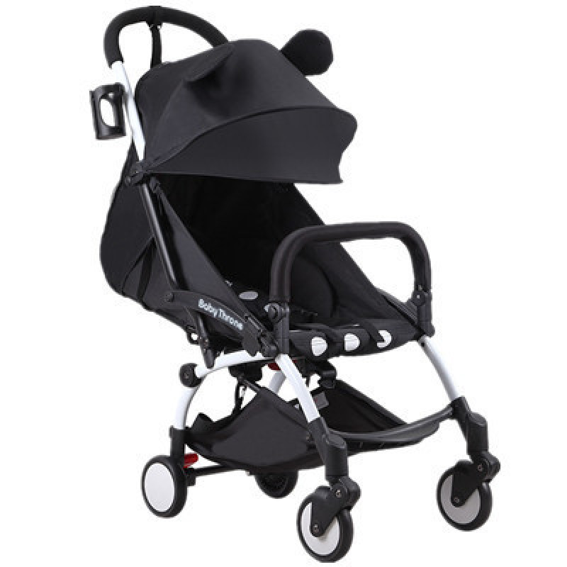 Baby Throne@  YOYA® Cabin size Ultra Lightweight one hand fold baby stroller - Black Minnie Mickey Blue Red Singapore