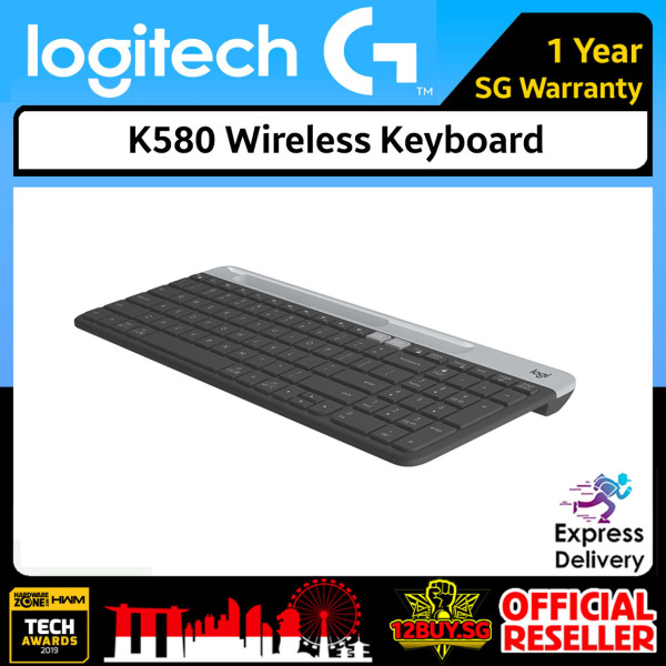 Logitech K580 Wireless Keyboard 3PM.SG 12BUY.SG 1 Year SG Warranty Express Door Delivery 3 to 7 Days Singapore