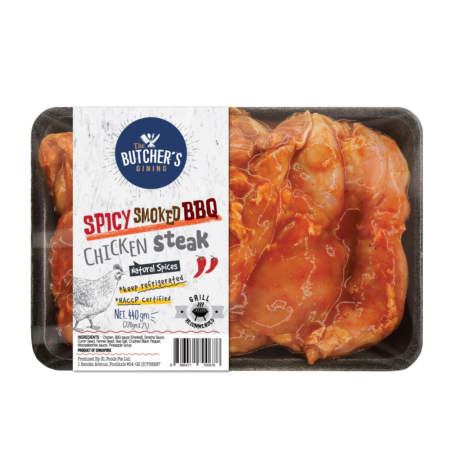 The Butcher's Dining Smoked Spicy BBQ Chicken Steak Chop