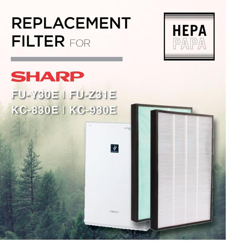 Sharp KC-830E/KC-930E/FU-Y30E/FU-Z31E/ (Economical Dust Filter with Added Green Pre-Filter for Longer Filter Life) [Free Alcohol Swab] [SG Seller] [7 Days Warranty] Singapore