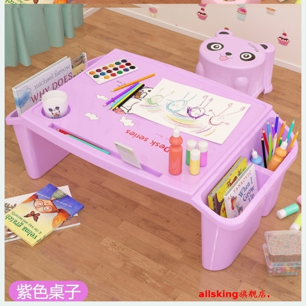 2020 Children Desk Chair Cover Double Simple CHILDRENS GIRLS Boy Bed hui hua zhuo Desk Study Table