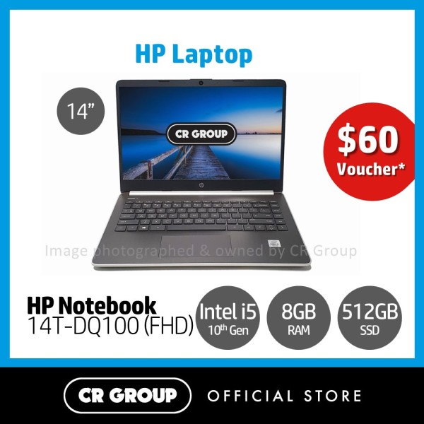 [Same Day Delivery] HP Notebook 14T-DQ100 14 Inch Full HD | Intel Core i5-1035G1 | 8GB DDR4 RAM | 512GB PCle SSD | Intel UHD Graphics | ENERGY STAR® certified