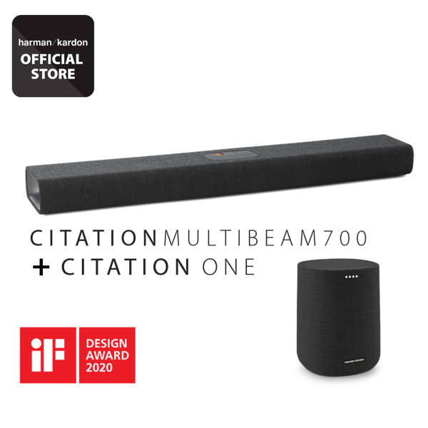 Harman Kardon Citation Multibeam 700 home smart soundbar with multibeam surround sound + Citation one Bundle Singapore