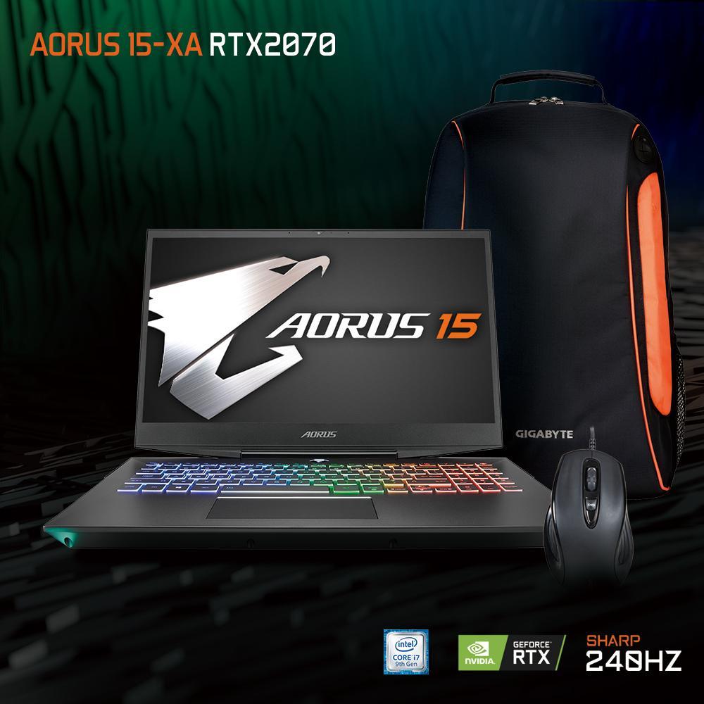 AORUS 15-XA SHARP 240Hz FHD (i7-9750H/16GB SAMSUNG DDR4 2666 (8GB*2)/GeForce RTX 2070 GDDR6 8GB/512GB INTEL 760P PCIE SSD + 2TB HDD 7,200RPM/15.6 Thin Bezel SHARP 240Hz FHD IPS/WINDOWS 10 HOME) [Ships 2-3 days]