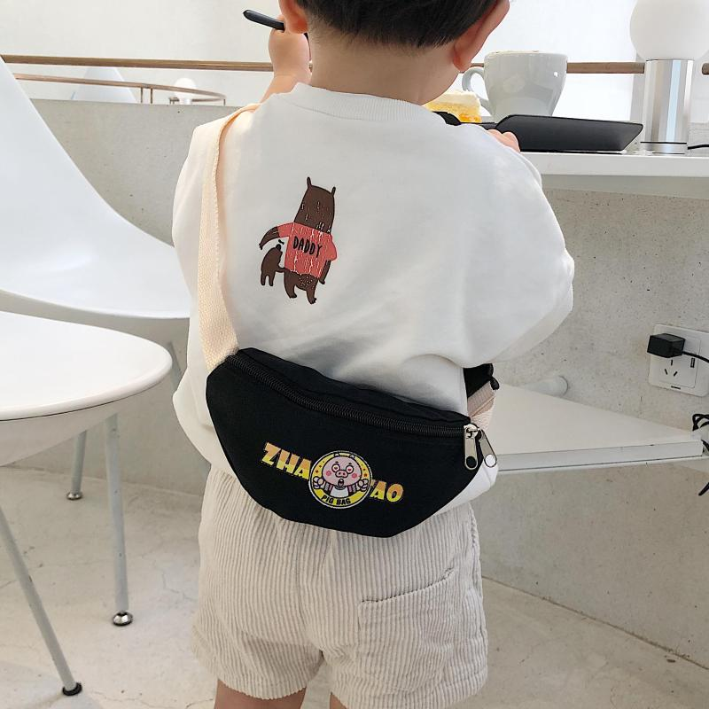 Korean Style Children Small Waist Pack Mini Shoulder Bag Cartoon Boys Girls Trendy Bag Cute Backpack Fashion Baby Bags