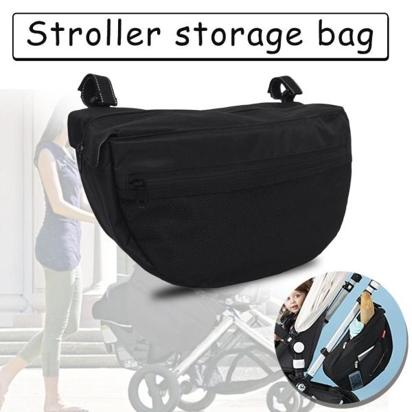 Baby Stroller Insulation Bag High-quality Waterproof 600D Hanging Storage Bag Large capacity easy to disassemble, easy to travel, baby stroller accessories, mother storage bag Singapore