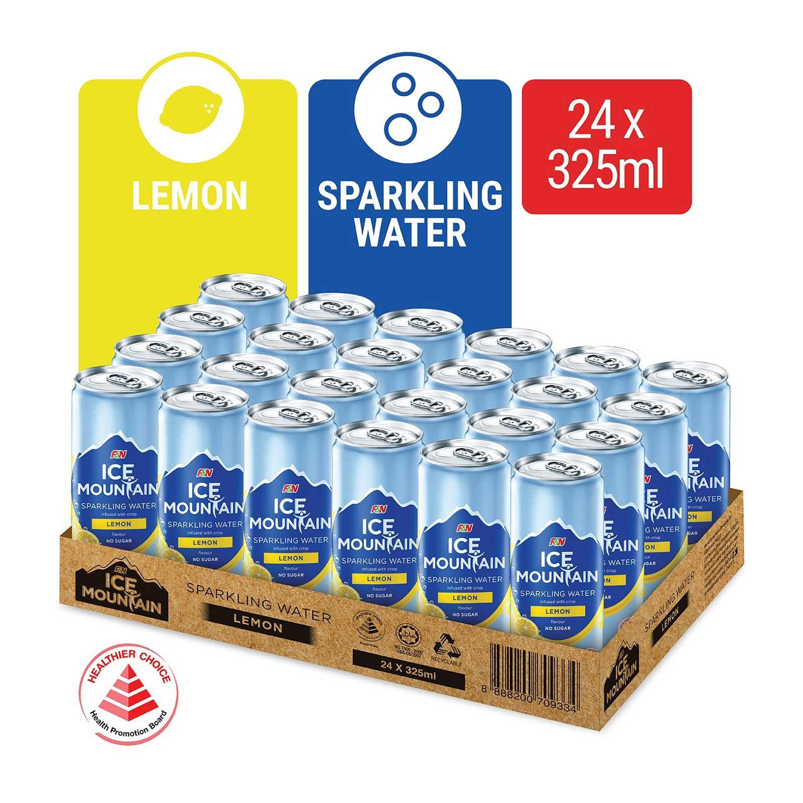 Ice Mountain Lemon Sparkling Water 24s Case