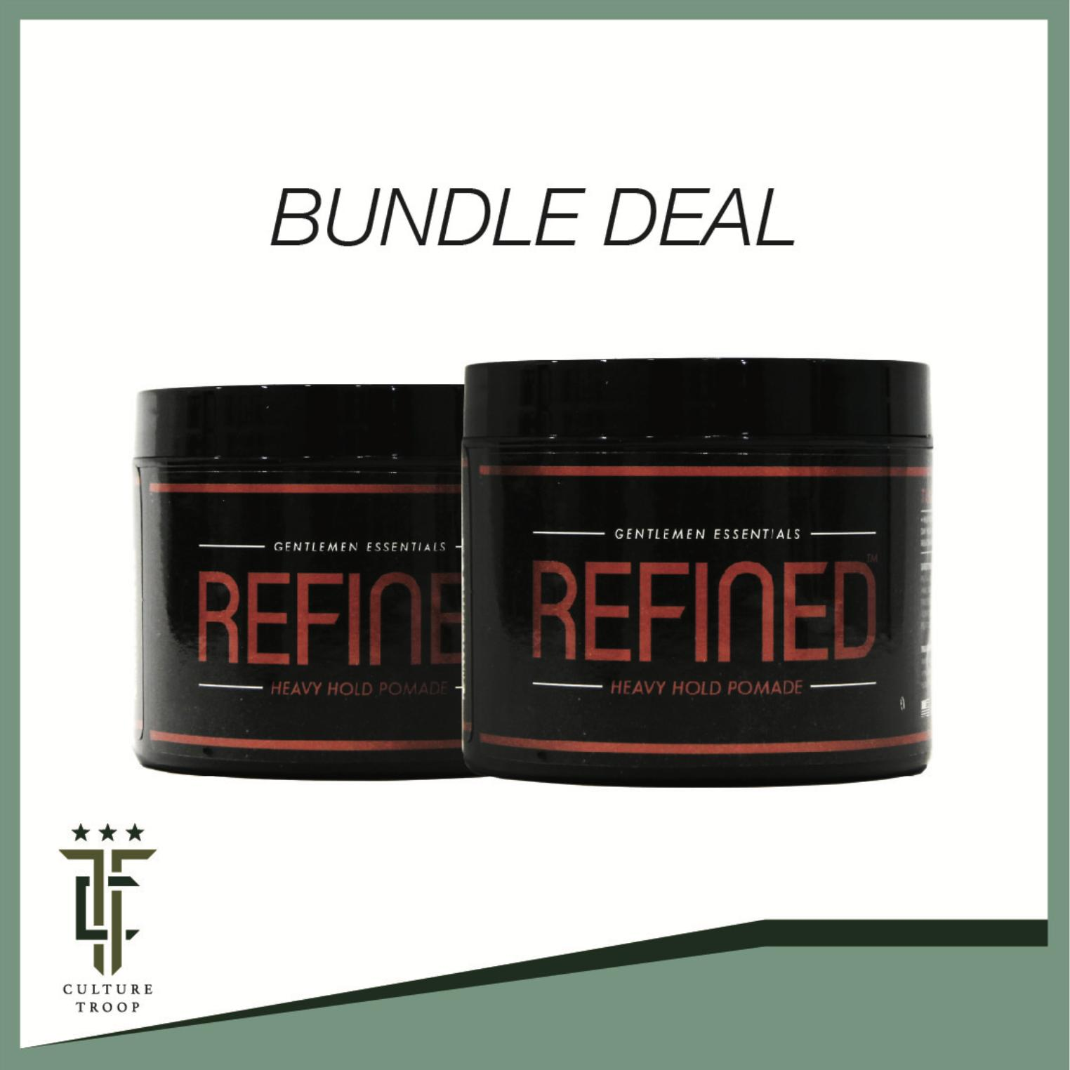 [free Shipping] [bundle Of 2] Refined Supply Heavy Hold Pomade Mens Hair Grooming Hair Gel.