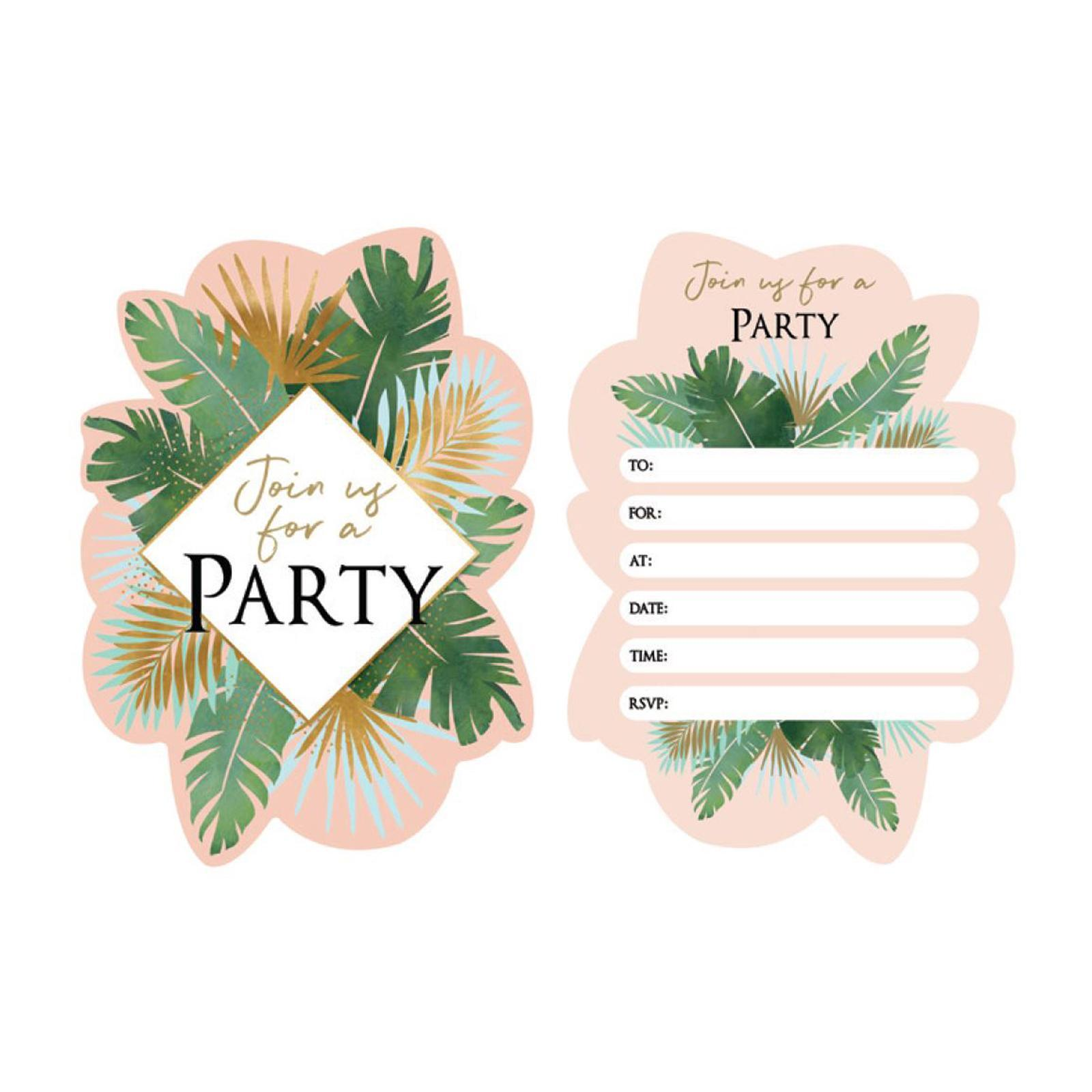 Artwrap Party Invitation - Tropical