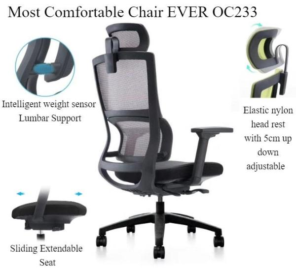 Most Comfortable High Back Computer Chair Ever - OC233-Gaming Chair / Office Chair /Conference Chair/Computer Chair