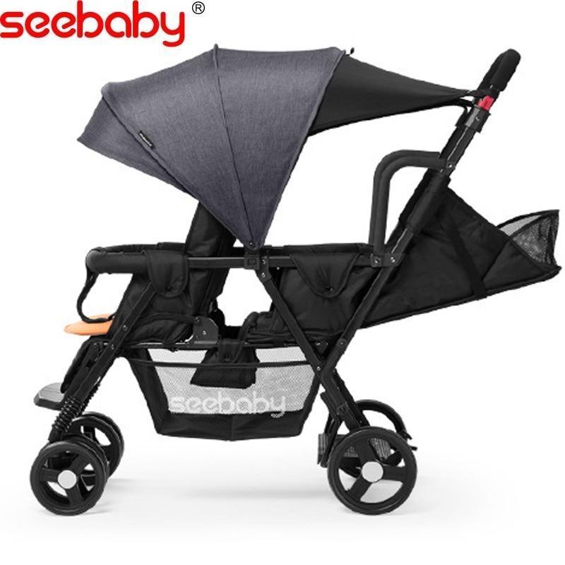 Seebaby Twins Baby Stroller Load 130kg Singapore