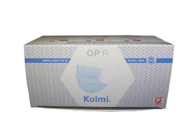 Buy 4-Ply KOLMI OPR Medical Grade Mask (TYPE IIR) With Elastic Earloops 50 Pcs BFE ≥ 98%, Delta P ≤ 60, Splash Resistance compliant, PFE ≥ 98% Singapore