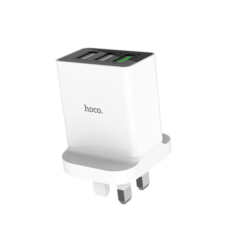3 USB Ports QC3.0 Wall Charger, HOCO C48 One Qualcomm Quick Charge 3.0