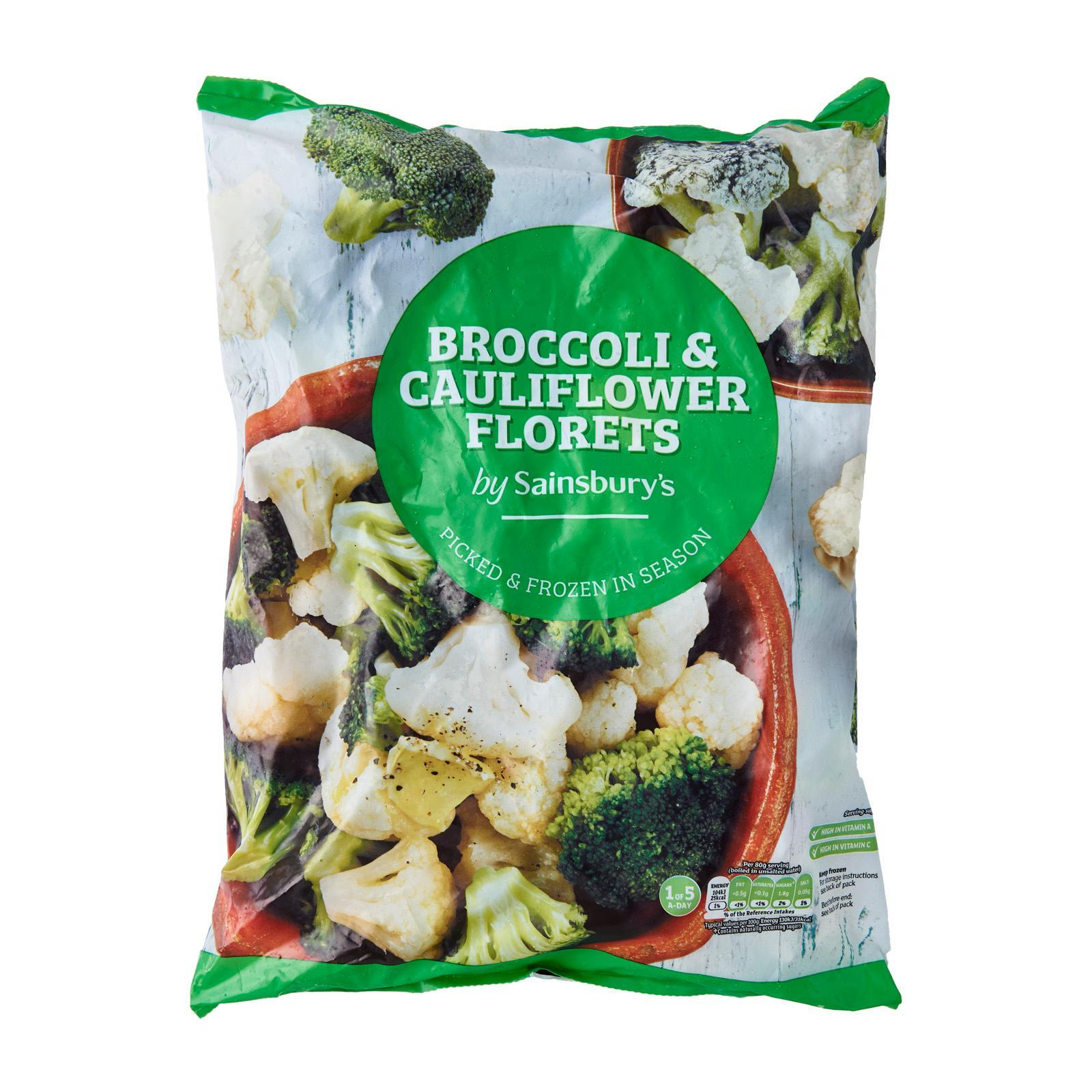 Sainsbury's Mixed Broccoli And Cauliflower Florets - Frozen