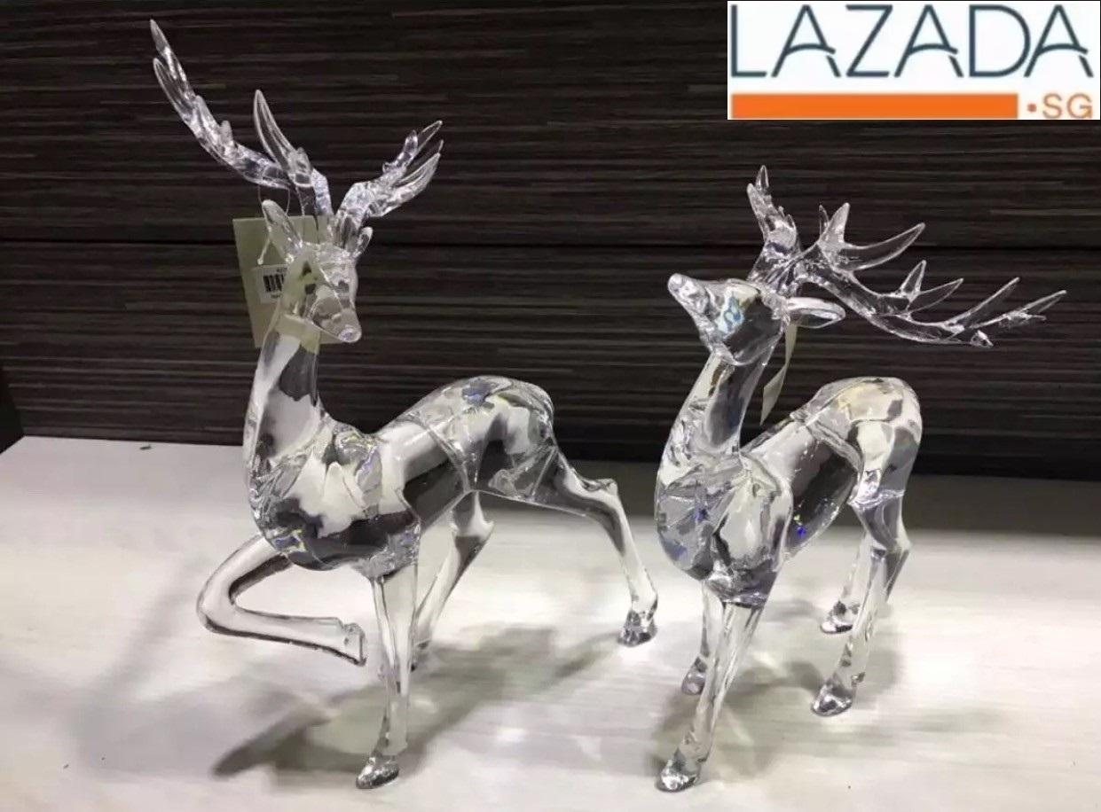 deer acrylic display deco ( one pair )