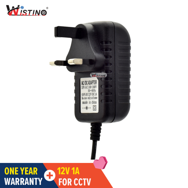 Wistino DC 12V 1A Power Supply Adapter UK Plug Converter Voltage Switching Transfomer Charger Switch Adaptor