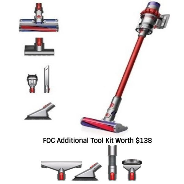 Dyson Cyclone V10 Fluffy Handheld Vacuum Cleaner FOC Additional Tools Kit Singapore