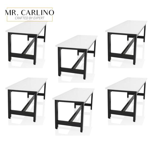[SET OF 6] VICKERS Contemporary Dining Bench