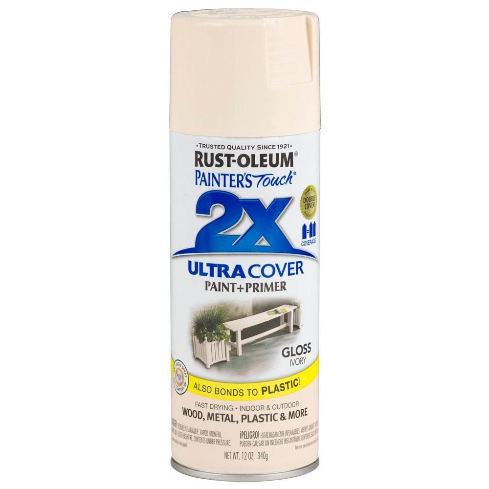 Rust-oleum Ultra Cover 2X Spray Paint Gloss Ivory RustOleum
