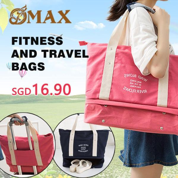 OMAX Canvas bag handbag large capacity shoulder bag travel bag fitness bag with shoes
