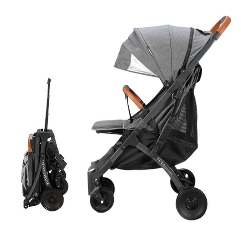 YOYA PLUS PRO Quick Folding Cabin Size Lightweight Lite Baby Stroller Tie Rod Skylight Pram with Reflective Safety Strip Singapore
