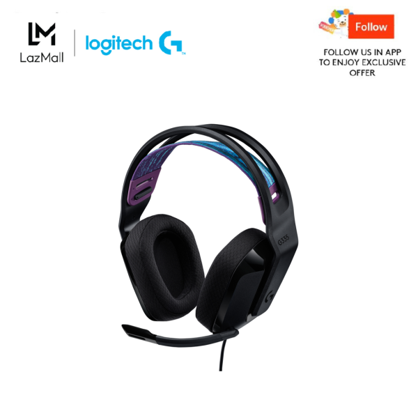 Logitech G335 Wired Gaming Headset, with Microphone, 3.5mm Audio Jack, Comfortable Memory Foam Earpads, Lightweight, Compatible with PC, PlayStation, Xbox, Nintendo Switch