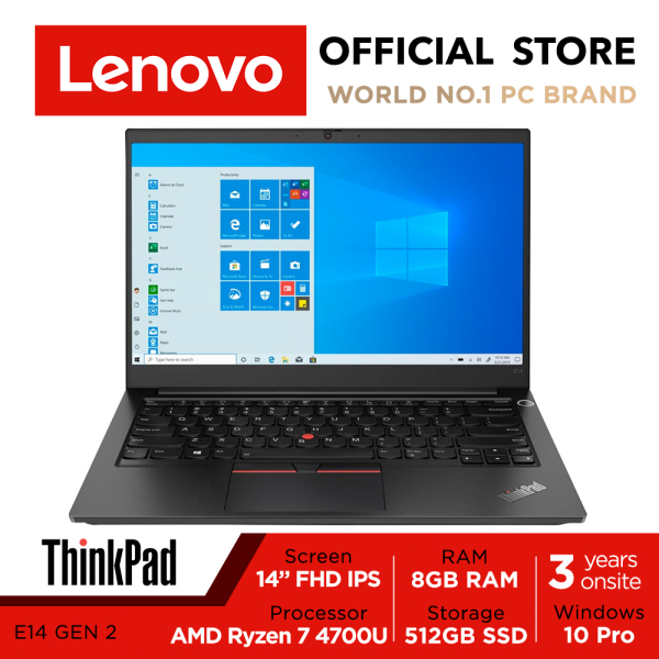 ThinkPad E14 Gen2 20T6S0CC00 | 14inch FHD IPS | Ryzen 7 4700U | 8GB RAM | 512GB SSD | Win10 Pro | Fre