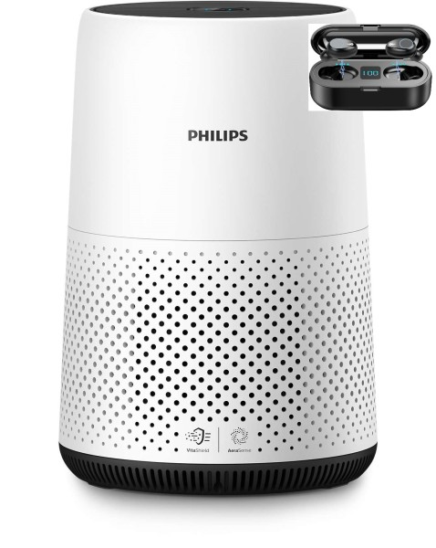 Philips Series 800 Air Purifier AC0820/30 (Free F9 Wireless Audio Earpiece Retailed at S$29; While Stock Last) Singapore
