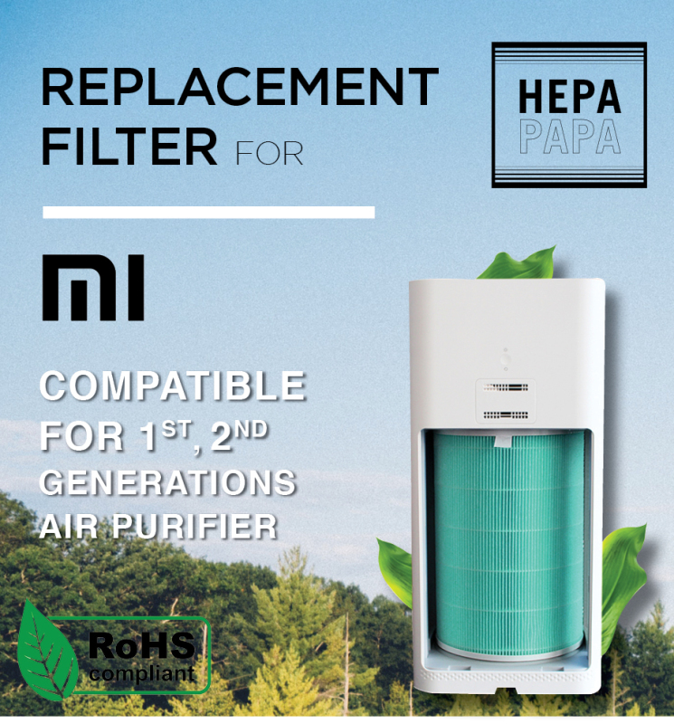 Xiaomi Gen 1 and 2 Air Purifier. Formaldehyde and Carbon Version Compatible Replacement filter [Free Alcohol Swab] [SG Seller] [7 Days Warranty] [HEPAPAPA] Singapore