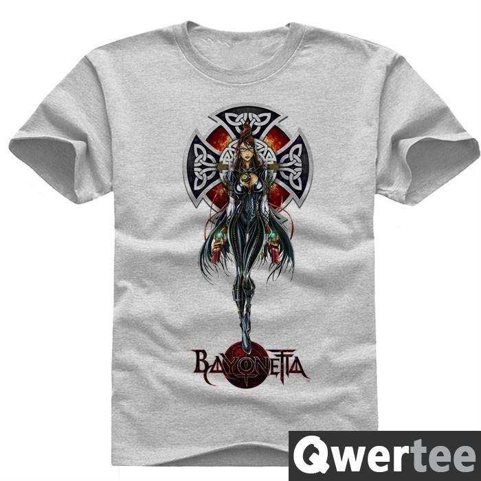 Bayonetta short sleeve women men cotton t-shirt