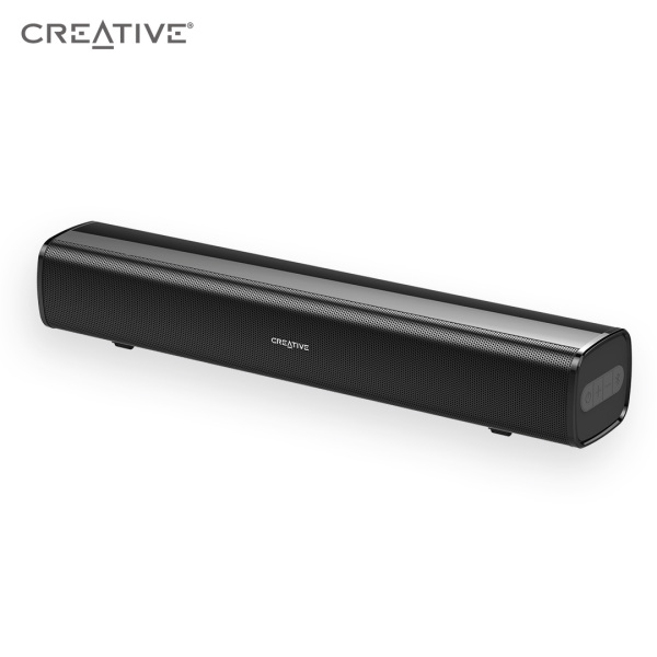 Creative Stage Air Portable and Compact Under-Monitor USB-Powered Soundbar for Computer, with Dual-Driver and Passive Radiator for Big Bass, Bluetooth and AUX-in, USB MP3, 6 Hours of Battery Life Singapore