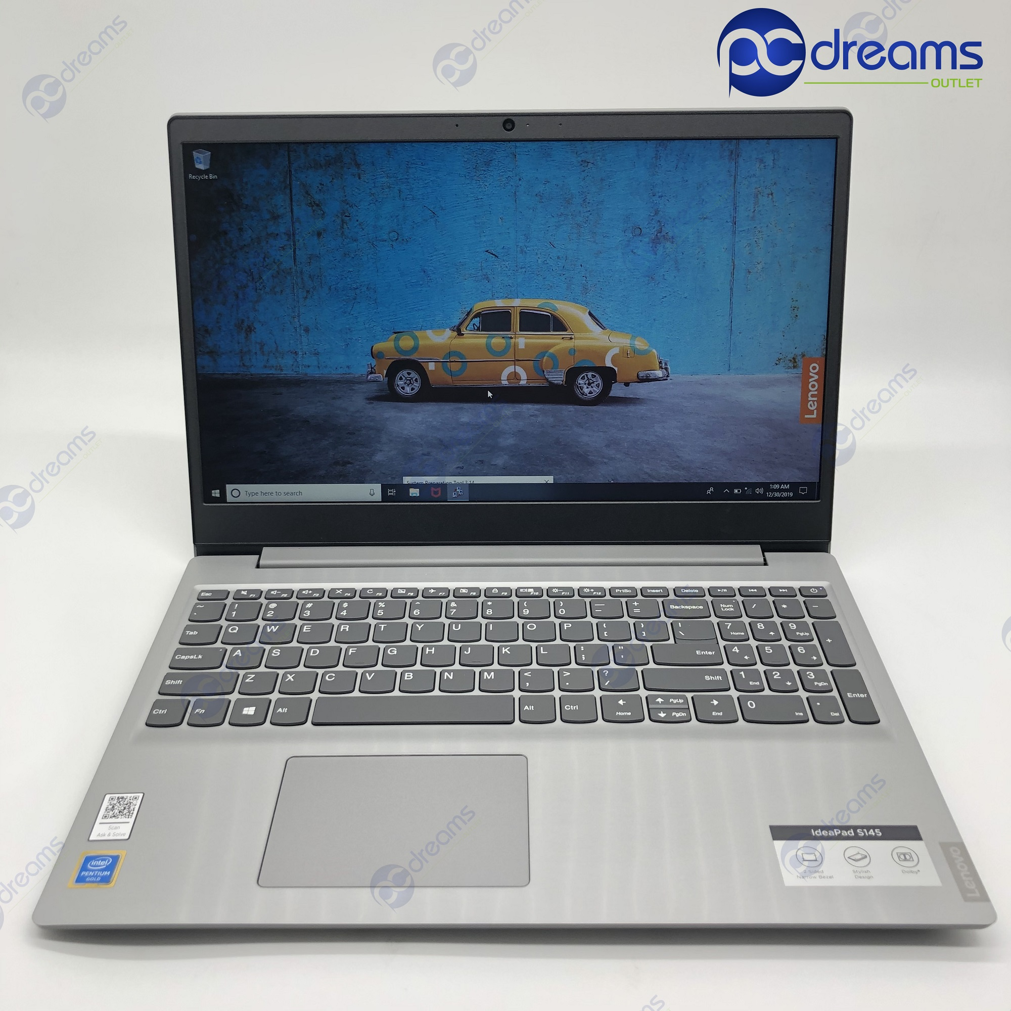 LENOVO IDEAPAD S145-15IWL (81MV00F6SB) PENTIUM GOLD 5405U/8GB/252GB M.2 PCIe SSD [New Reconditioned]