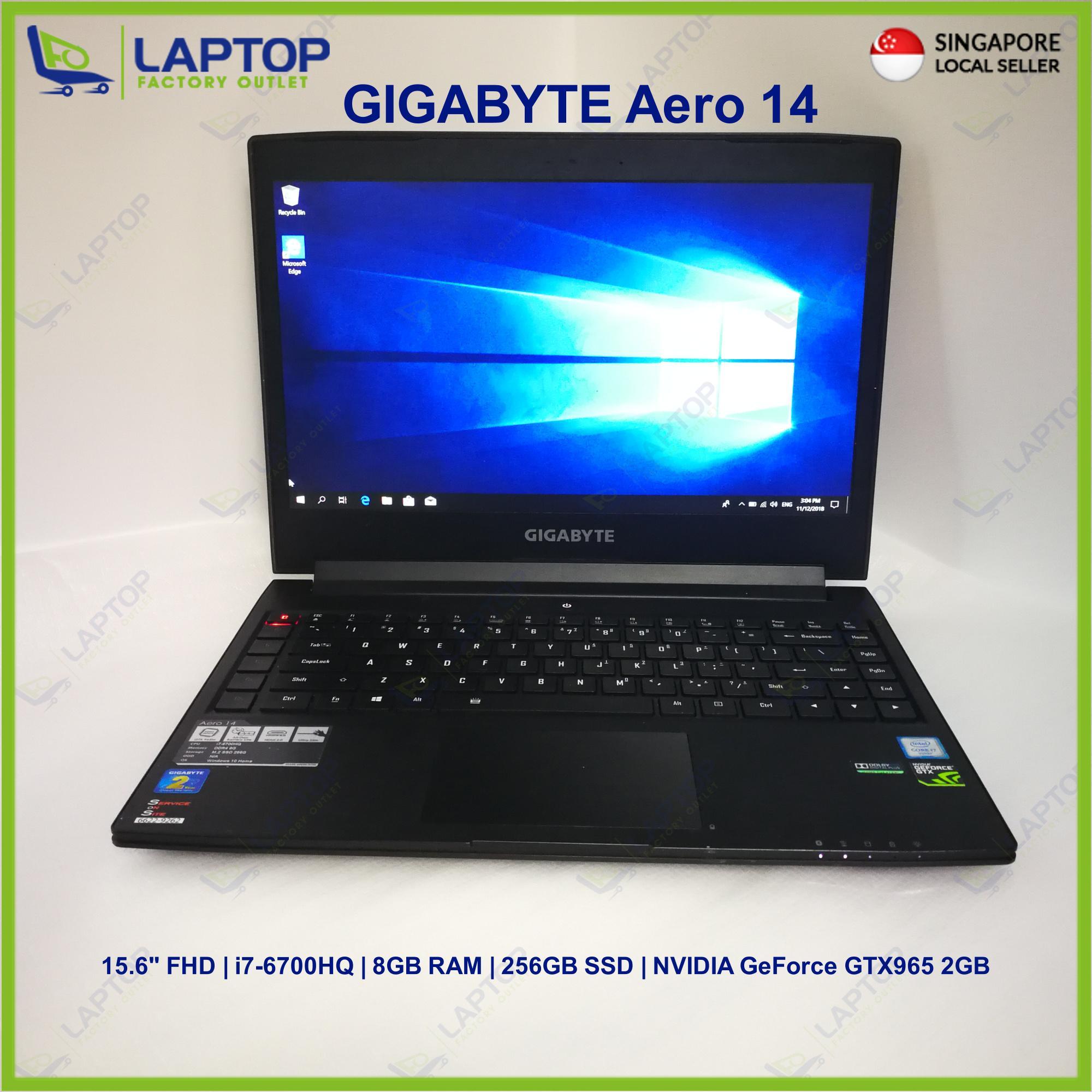 GIGABYTE Aero 14 (i7-6/8GB/256GB) @gaming @ Premium Preowned [Refurbished]