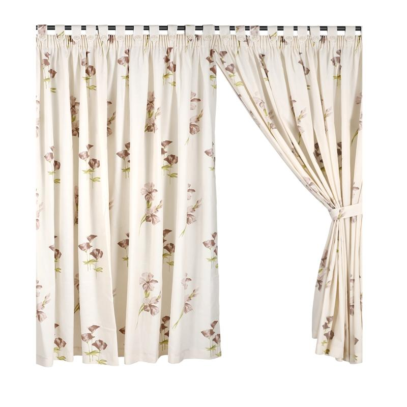 Half Length (147cm W x 172cm H) Ready Made Curtain, Printed Night Curtain, Floral Design, 3 Ways Hanging Options