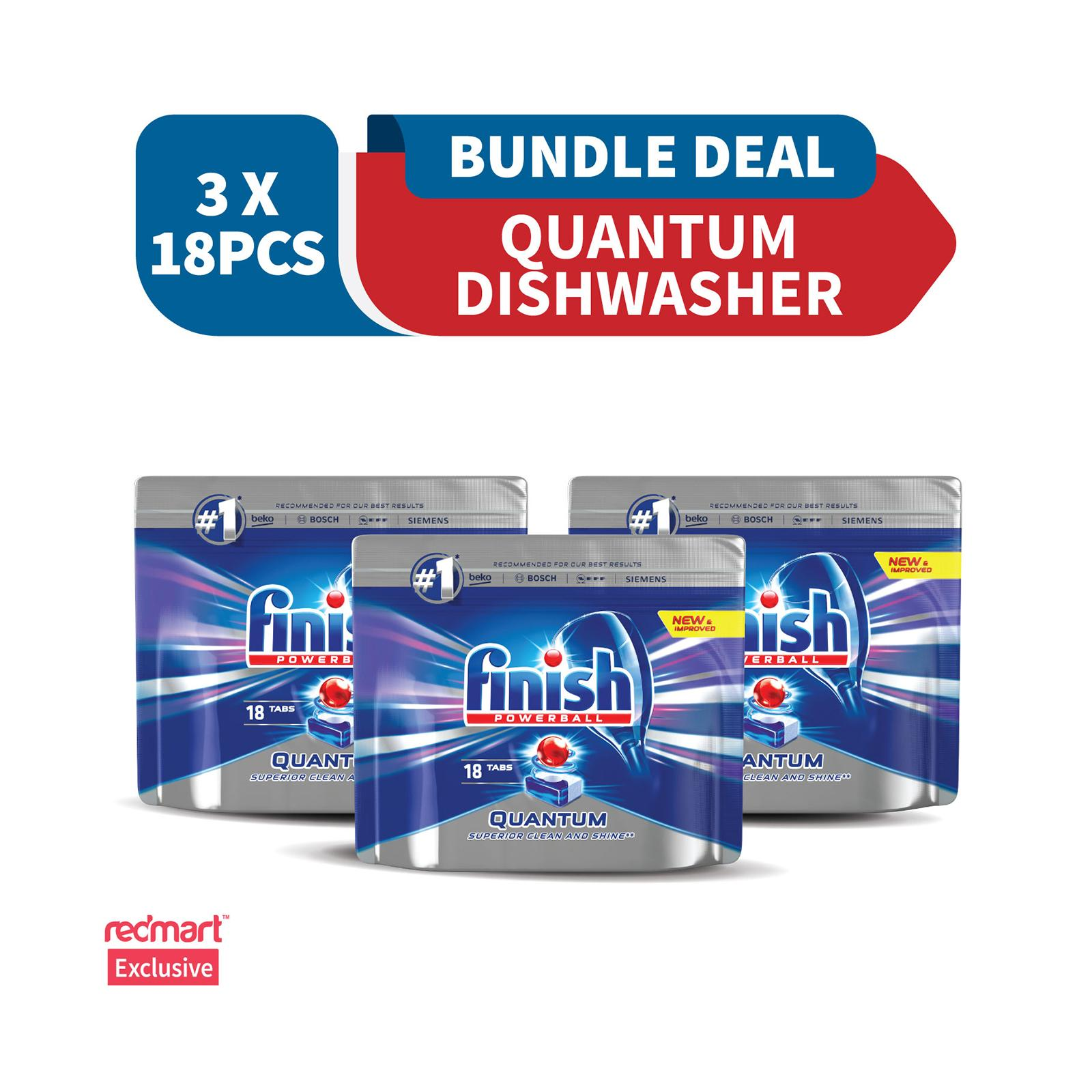 Finish Quantum Max Super Charged PowerBall Dishwasher Tablets - 54 Tablets (Mega Bundle Pack)