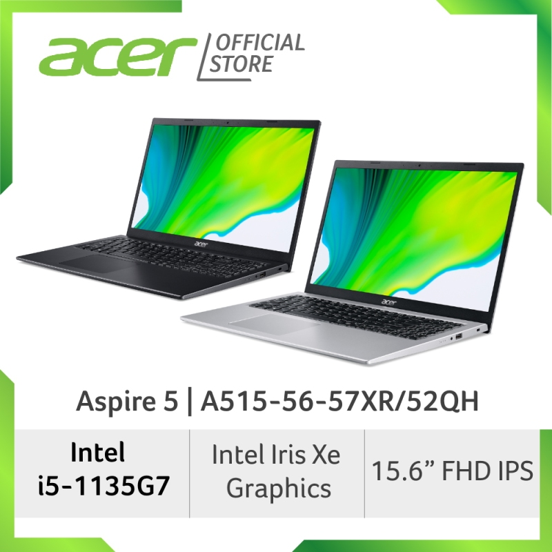 Acer Aspire 5 A515-56-57XR/52QH(Silver/Black)- 15.6 FHD Laptop with Latest 11th Gen i5-1135G7 Processor and Intel Iris Xe Graphics (Pre-order-Ship out in first week Jan)