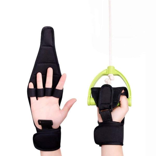 Finger Splint Brace ability, Finger Gloves Brace Elderly Fist Stroke Hemiplegia Hand Training [Single Hand] - Black
