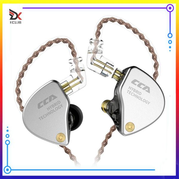 [KCLUB] CCA CA4 1BA+1DD Hybrid In Ear Earphone HiFi Monitor IEM 2 Drive Unit Sports Headset with Detachable 2Pin Cable Singapore