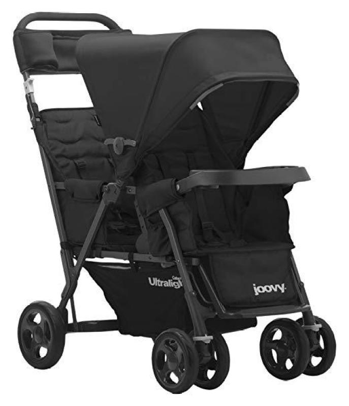 JOOVY Caboose Too Ultralight Graphite Tandem Stroller, Black (Preorder - Will arrive in 7 to 11 working days) Singapore