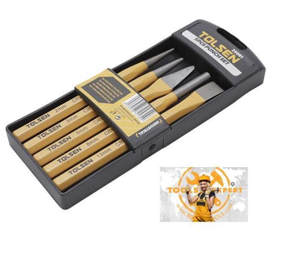Tolsen Tools, 5pcs Chisel Punch Set