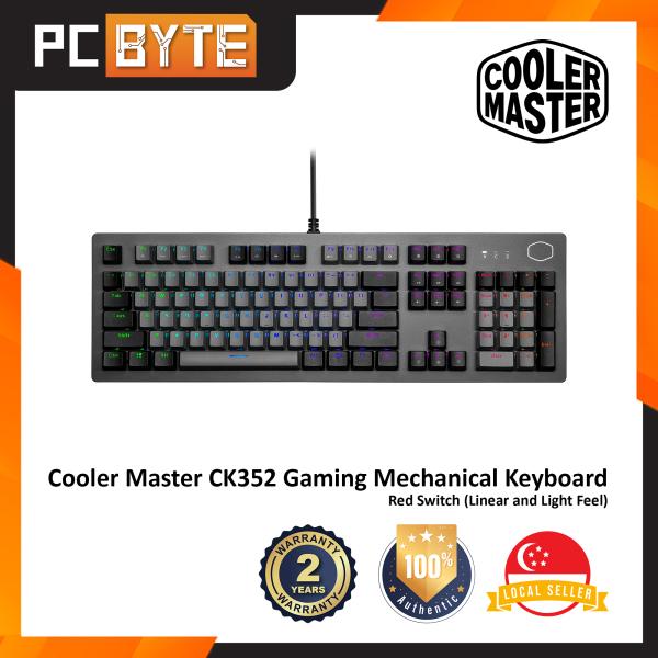 Cooler Master CK352 - Gaming Mechanical Keyboard (Space Gray Sandblasted Aluminum, RGB Backlight) Singapore