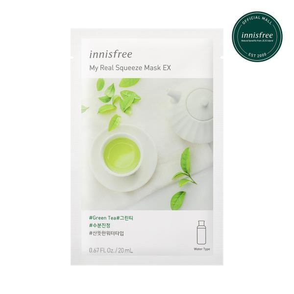 Buy innisfree My Real Squeeze Mask Green Tea EX 20ml x 12pcs Singapore