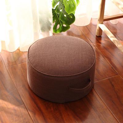 Washable Flax throw pillow Extra High Thick Futon Floor Stool Tatami Teapoy Table Terrace/Patio Bay Window Fabric Coaster