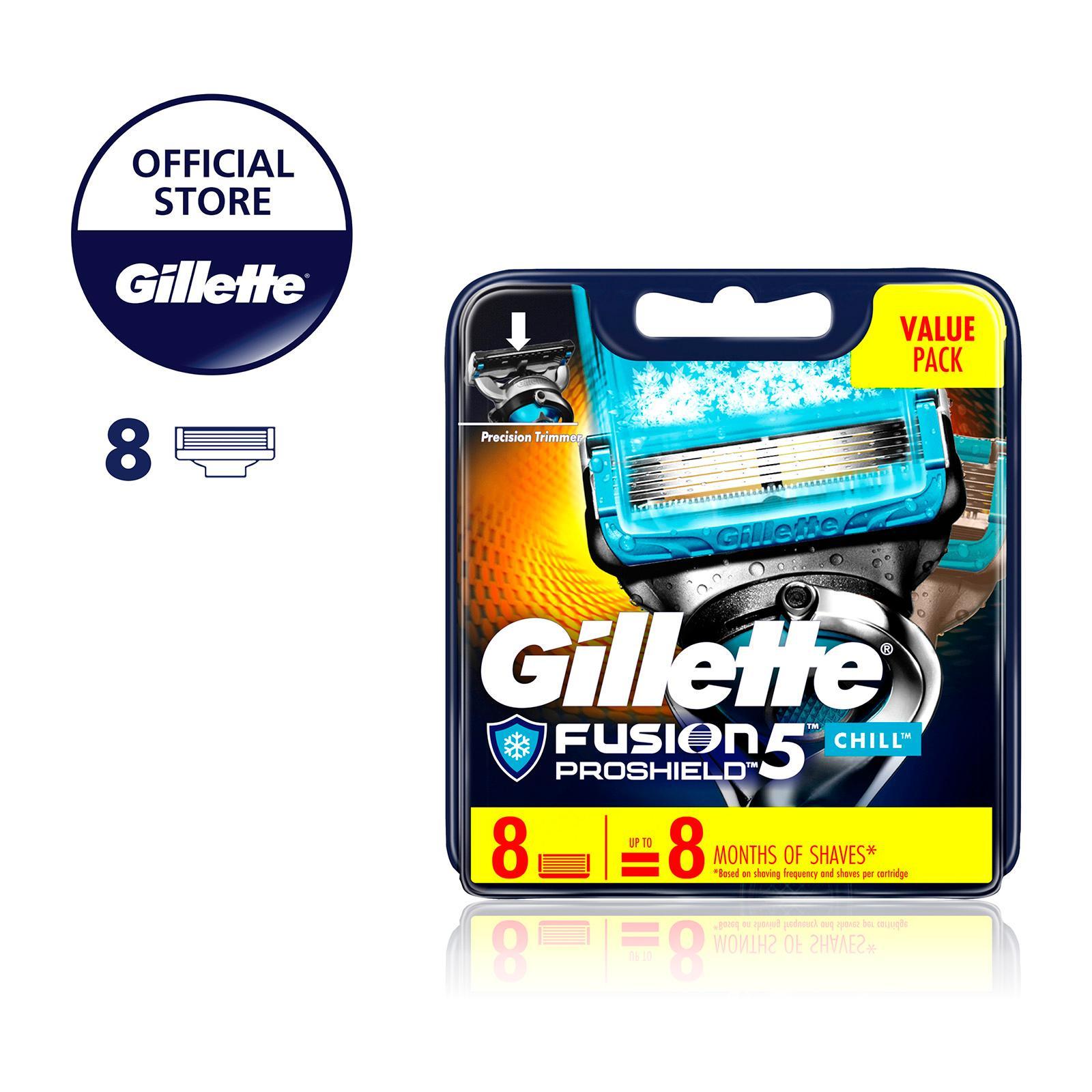 Gillette Fusion Proshield Chill Razor Cartridges Refill