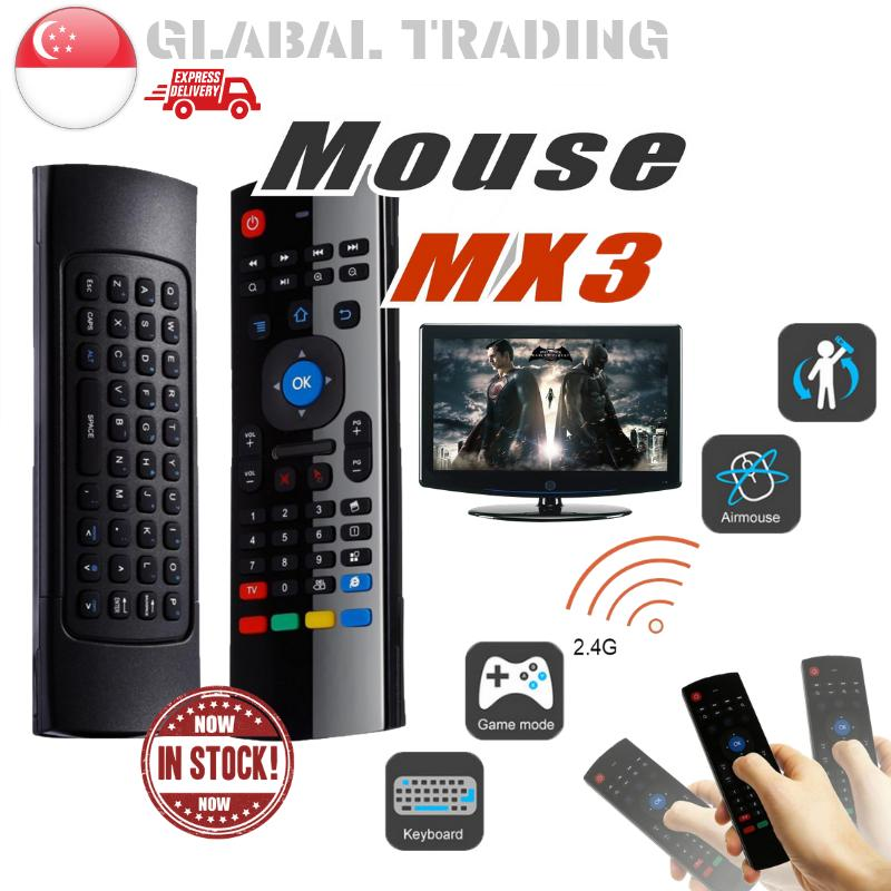 [Local Seller] MX3 2.4G Wireless Air Mouse with Keyboard Smart Remote Control for