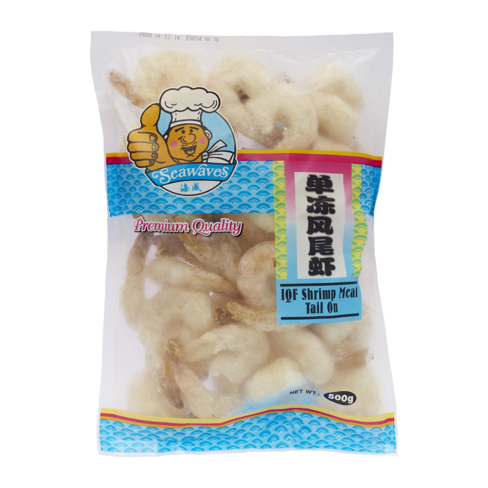 Seawaves Iqf Vannamei Shrimp Meat Tail On - Frozen