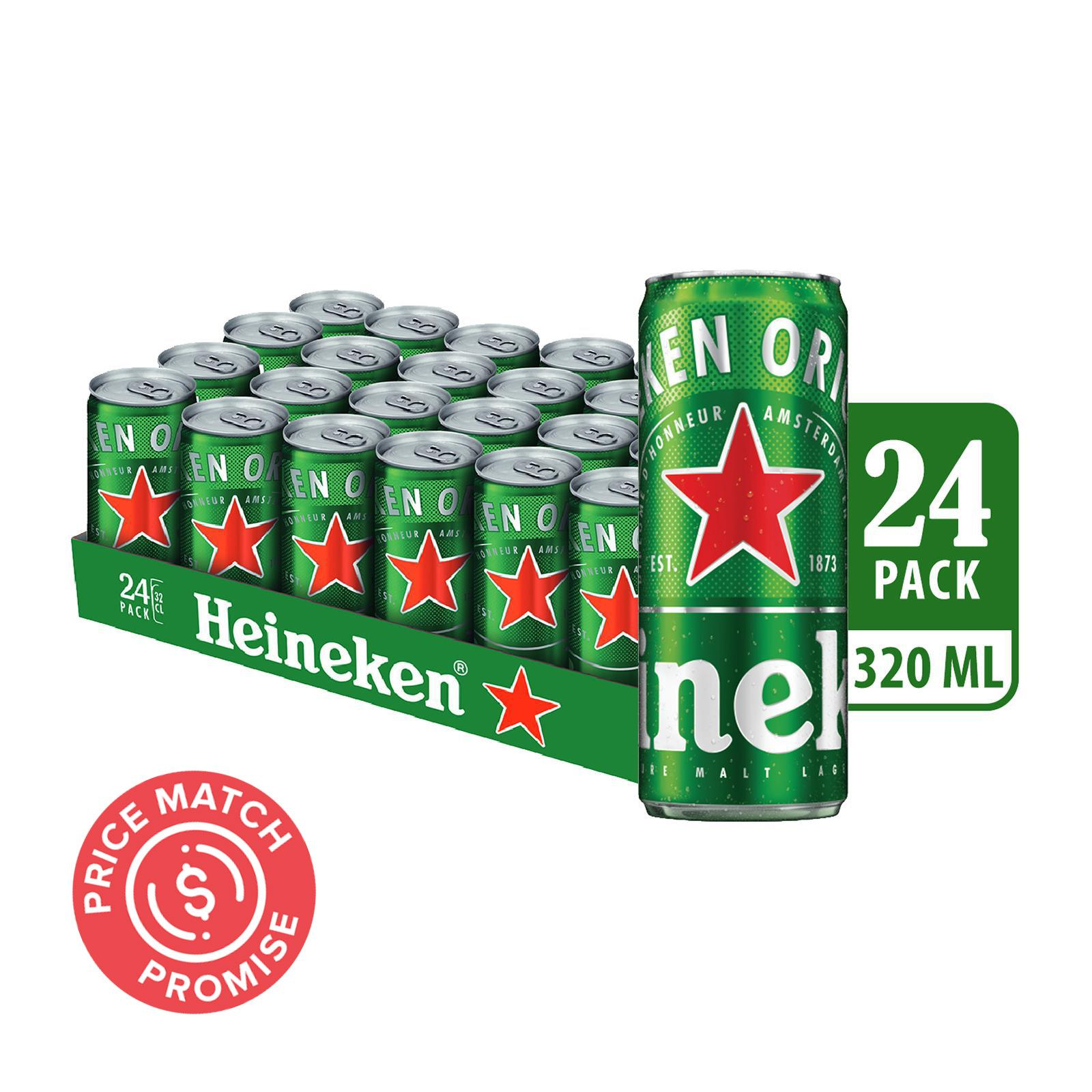 Heineken Lager Beer Can 24x320ml